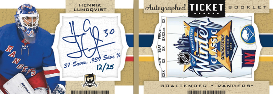 2018-19 Upper Deck The Cup Hockey Ticket Booklet