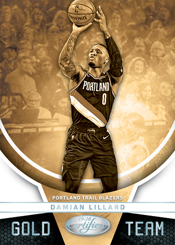 2019-20 Panini Certified Basketball Gold Team