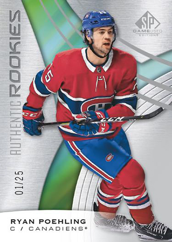 2019-20 SP Game Used Hockey Base Authentic Rookies