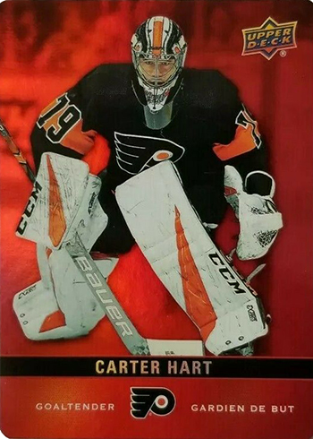 2019-20 Upper Deck Tim Hortons Hockey Red Die-Cut Carter Hart