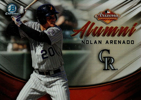 2019 Bowman Chrome Baseball AFL Alumni Nolan Arenado