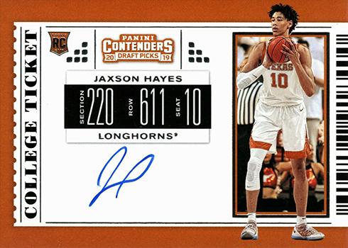2019 Panini Contenders Draft Picks Basketball Jaxson Haye RPS Autograph