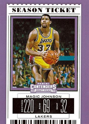 2019 Panini Contenders Draft Picks Basketball Magic Johnson