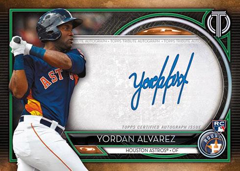 2020 Topps Tribute Baseball Tribute Autographs Yordan Alvarez