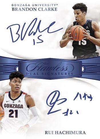 2019 Panini Flawless Collegiate Basketball Dual Autograph
