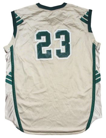the best attitude 86174 7bb11 Famous LeBron James S.I. Cover Jersey Up For Auction ...