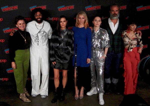 The cast of Snowpiercer