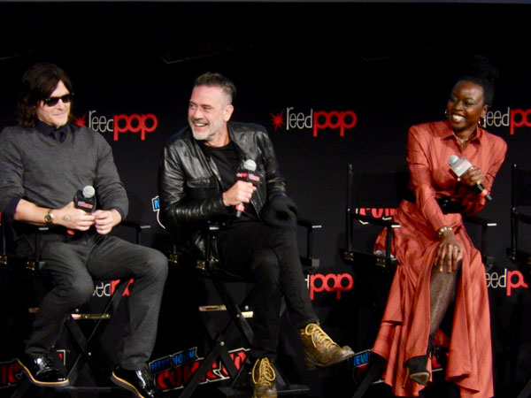 The Walking Dead's Norman Reedus, Jeffrey Dean Morgan, Danai Gurira