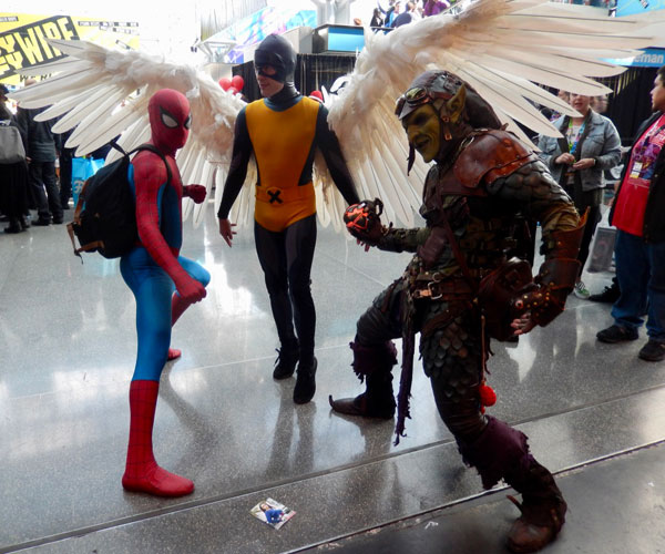 Cosplayers in Action
