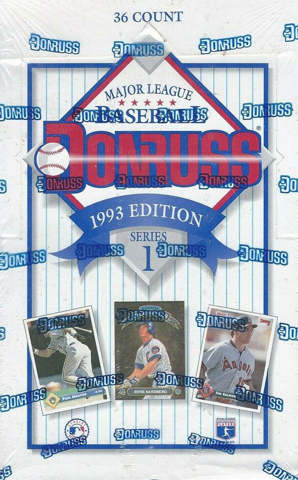 1993 Donruss Series 1 Baseball box