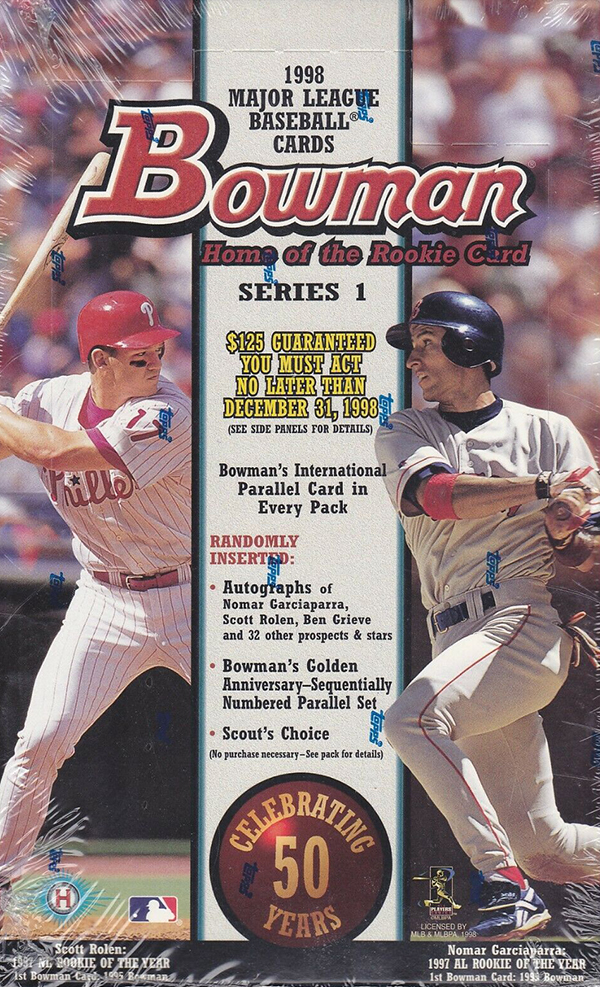 1998 Bowman Series 1 Baseball Box