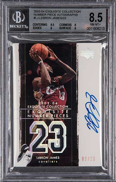 2003-04 Upper Deck Exquisite Collection Exquisite Number Pieces LeBron James