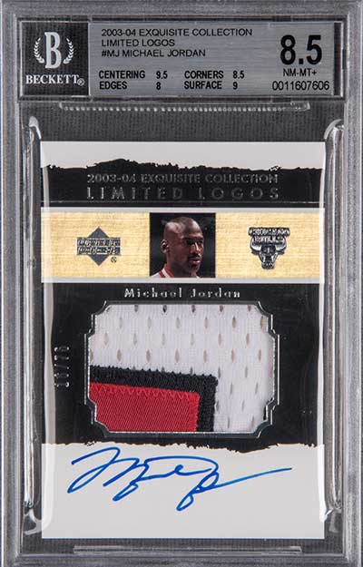2003-04 Upper Deck Exquisite Collection Limited Logos Michael Jordan