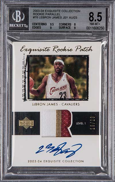 2003-04 Upper Deck Exquisite Collection Rookie Patch Parallel LeBron James
