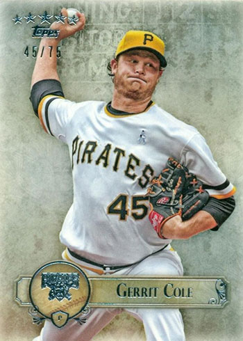 2013 Topps Five Star Gerrit Cole Rookie Card