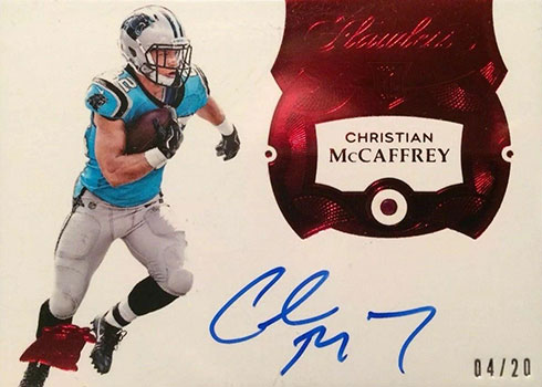 2019 Panini Flawless Christian McCaffrey Rookie Card