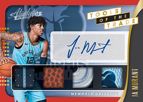 2019-20 Panini Absolute Memorabilia Basketball Tools of the Trade 4 Swatch Signature