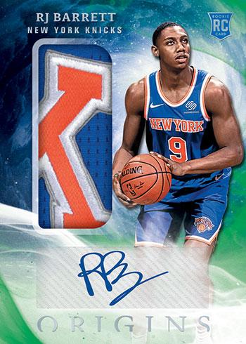 2019-20 Panini Origins Basketball Rookie Jersey Auto Green
