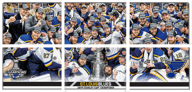 2019-20 Topps NHL Stickers Blues Stanley Cup Puzzle