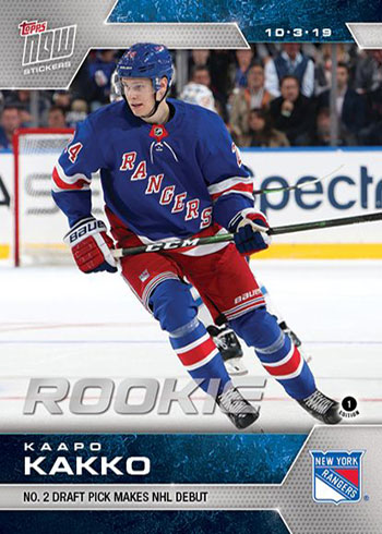 2019-20 Topps Now NHL Stickers 4 Kaapo Kakko