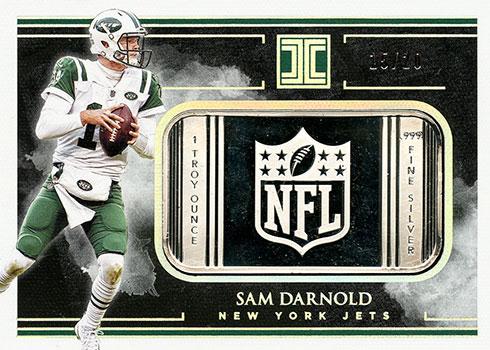 2019 Panini Impeccable Football Silver NFL Shield Sam Darnold