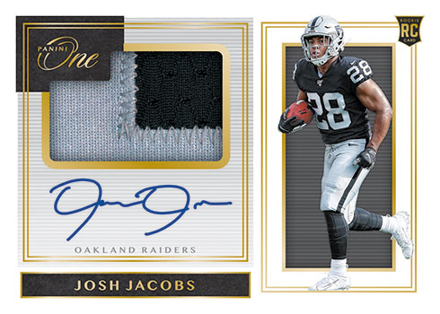 2019 Panini One Football Rookie Premium Patch Autographs