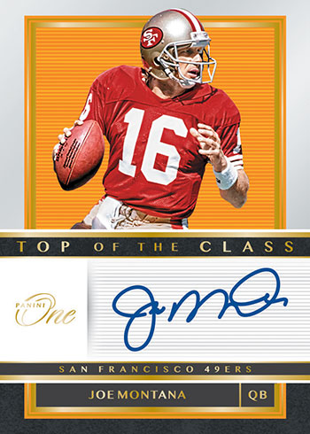 2019 Panini One Football Top of the Class