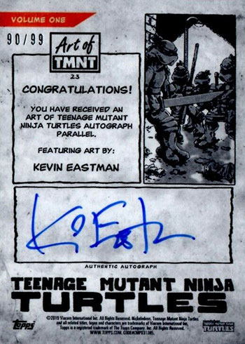 2019 Topps Art of TMNT Kevin Eastman Autograph