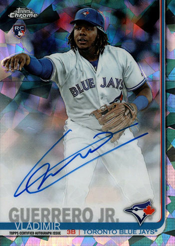 2019 Topps Chrome Sapphire Baseball Vladimir Guerrero Jr. Autograph