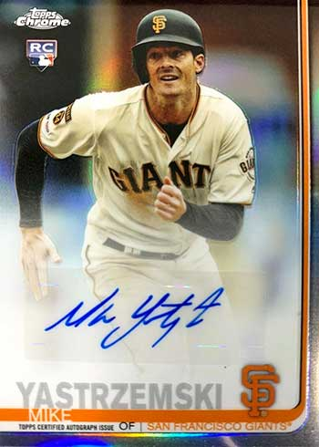 2019 Topps Chrome Update Series Baseball Autographs Mike Yastrzemski