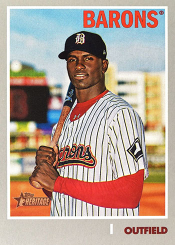 2019 Topps Heritage Minors Variations Luis Robert - Missing Name