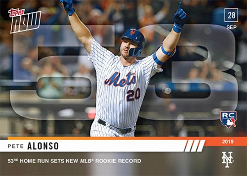 2019 Topps Now Baseball 913 Pete Alonso