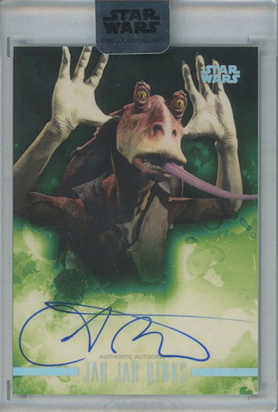 2019 Topps Star Wars Stellar Signatures Ahmed Best Autograph