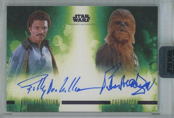 2019 Topps Star Wars Stellar Signatures Dual Autographs Billy Dee Williams Peter Mayhew