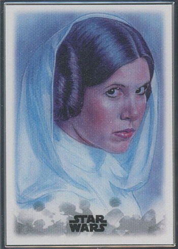 2019 Topps Star Wars Stellar Signatures Sketch Card Reproduction 100 Princess Leia