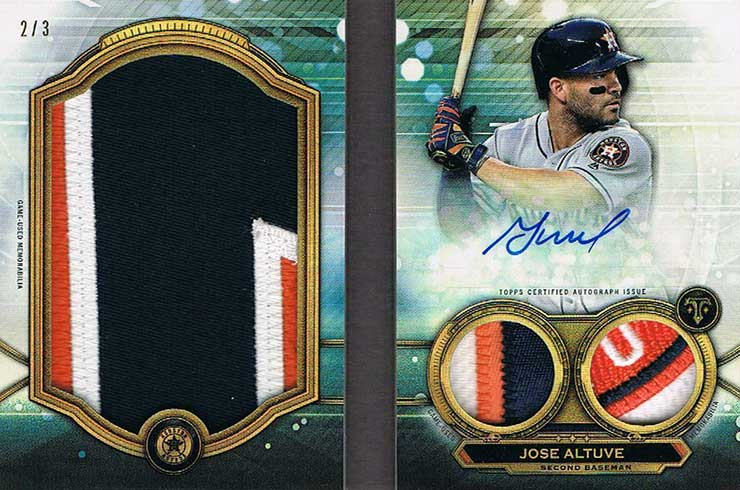 2019 Topps Triple Threads Baseball Jumbo Plus Autograph Book Jose Altuve