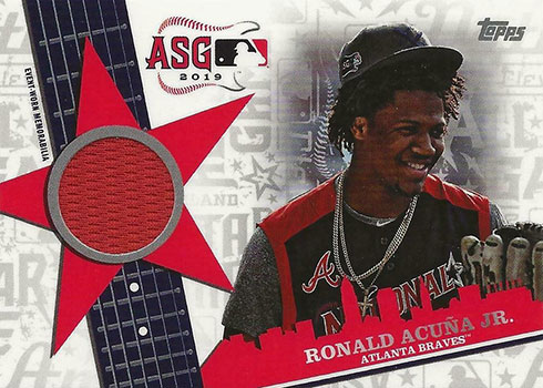 2019 Topps Update Series All-Star Stitches Ronald Acuna Jr.