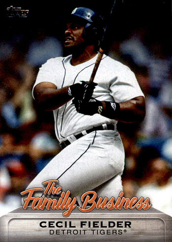 2019 Topps Update Series Baseball The Family Business Cecil Fielder