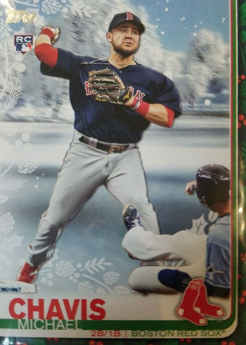 2019 Topps Walmart Holiday Variations - Michael Chavis SP