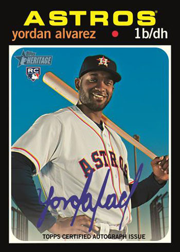 2020 Topps Heritage Baseball Real One Autographs