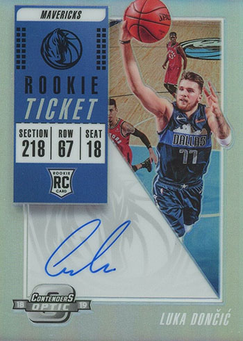 2018-19 Panini Contenders Optic Luka Doncic Rookie Card