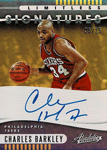 2019-20 Absolute Memorabilia Basketball Limitless Signatures Charles Barkley