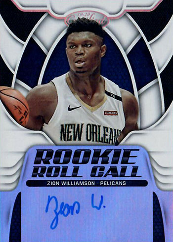 2019-20 Certified Rookie Roll Call Autographs Zion Williamson