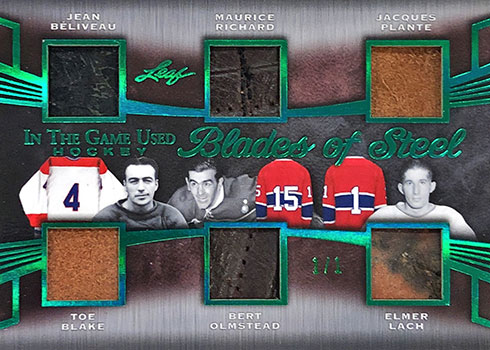2019 Leaf In the Game Used Hockey Blades of Steel Green