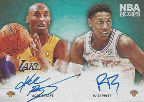 2019-20 Panini NBA Hoops Hoops Art Signatures Kobe Bryant RJ Barrett