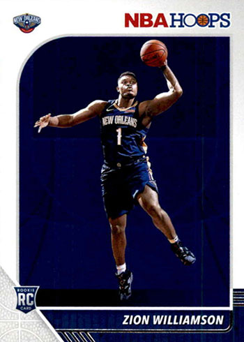 2019-20 Hoops Zion Williamson Rookie Card