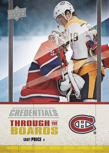 2019-20 Upper Deck Credentials Hockey Through the Boards