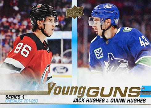 2019-20 Upper Deck Young Guns - Jack Hughes/Quinn Hughes Checklist