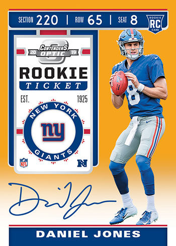2019 Panini Contenders Optic Football Rookie Ticket RPS Gold