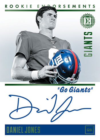 2019 Panini Encased Football Rookie Endorsements